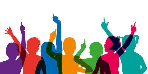 enfant - école - lever la main - éducation - réponse - répondre - connaissance