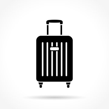 suitcase icon on white background