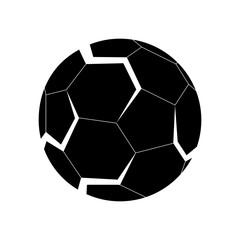 3D logo of football (soccer) ball. White background.