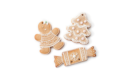 Christmas ginger biscuits to decorate the Christmas tree