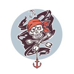 crazy pirate logo, label, sticker, emblem