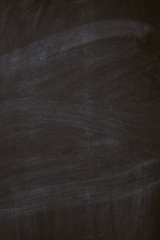 Black chalk board texture background with chalk rubbed out, vertical view.