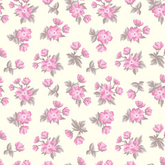Floral seamless pattern. Flower background. Texture with flowers