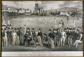 Sussex Vs. Kent circa 1840. Date: circa 1840