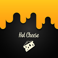 hot cheese logo design background
