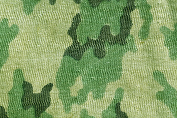 Weathered old camouflage uniform pattern.