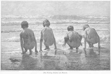 Beach Bums. Date: circa 1900