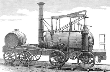 Puffing Billy  Hedley's improved Wylam engine. Date: 1813