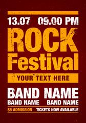 Vektor Rock Festival Flyer Design Vorlage für Party