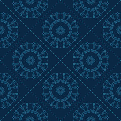Blue floral pattern. Seamless vector background for web pages