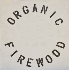 Organic Firewood Sign