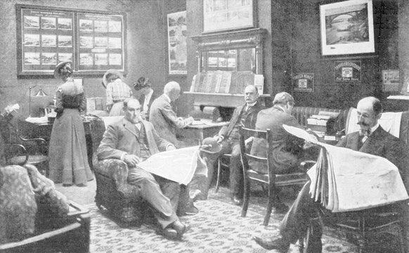 American Express Office. Date: 1900