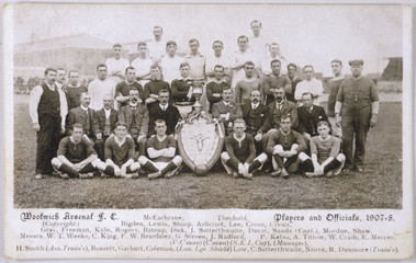 Woolwich Arsenal Team. Date: 1907-8