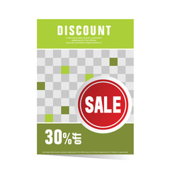 poster green with sticker sale illustration
