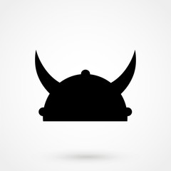 helmet with horn icon
