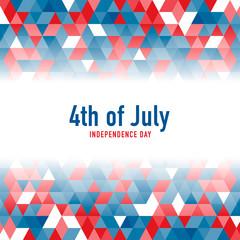 4th of July celebration background. Vector illustration.