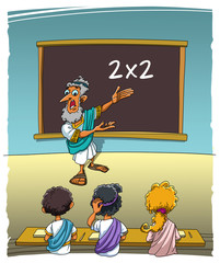 The teacher and students can not to solve the simple task