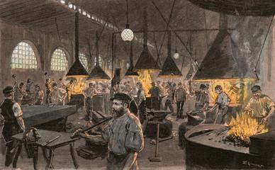 A German Shipyard Kiel. Date: 1900