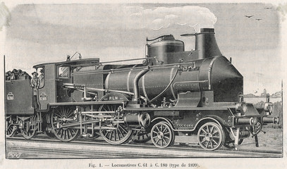 French Plm Locomotive. Date: 1899