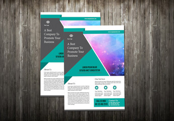 Flyer Layout with Teal and Gray Accents 2