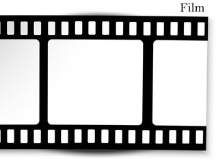 film, movie, photo, filmstrip set of film frame, vector illustration