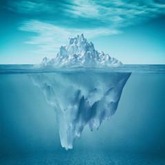 Keuken foto achterwand Antarctica Underwater view of iceberg