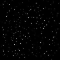 Vector pattern of a dark night sky with stars Vector illustration