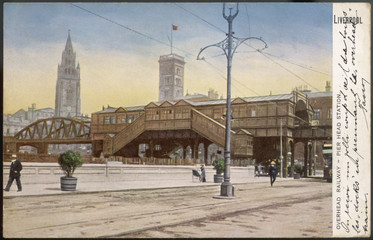 Canvas Print - Liverpool Pier Head Station. Date: 1905
