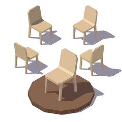 Vector lowpoly Monolithic Chair