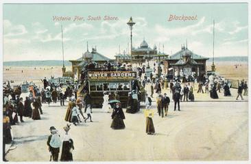Blackpool  Victoria Pier. Date: circa 1905