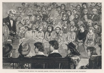 Faraday - Lecture - Children. Date: 1881