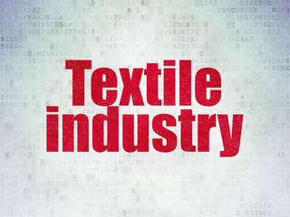 Industry concept: Textile Industry on Digital Data Paper background