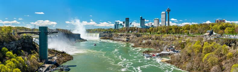 View of Niagara Falls from the Rainbow Bridge, the US - Canadian border