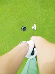 green golf field  concept