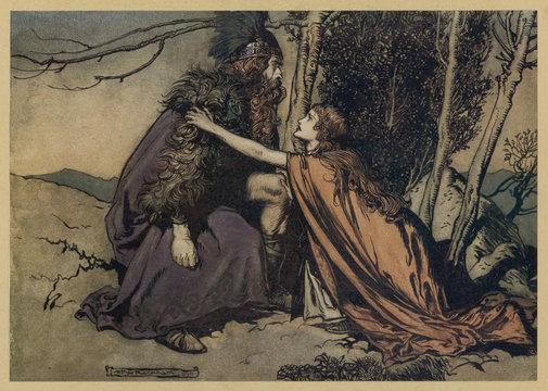 Brunnhilde and Wotan