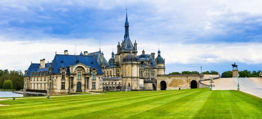 Fotobehang Kasteel Great castles of France- Chateau de Chantilly