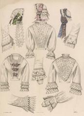 Lingerie - Caps 1851. Date: 1851