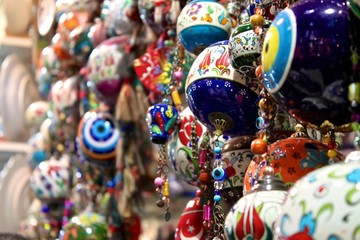 Colorful souvenirs from an Istanbul market