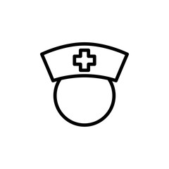 thin line nurse icon on white background