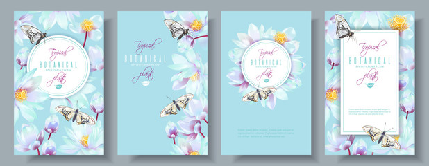 Lotus vertical banners set