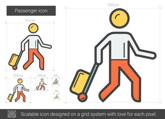 Passenger line icon.