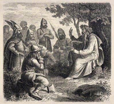 Danish Bard of 1000. Date: circa 1000