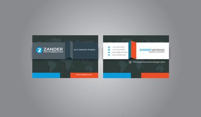 Modern Business Card Vectorial Design