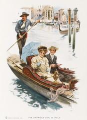 Tourists in a Gondola. Date: 1909