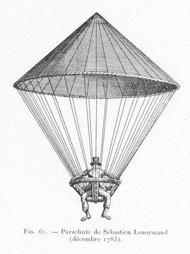 Parachute. Date: December 1783
