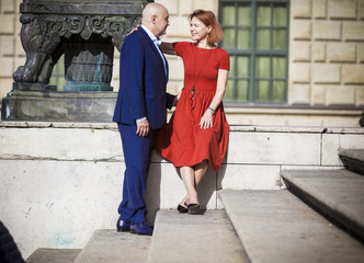 Senior couple falling in love, Munich, Bavaria, Germany