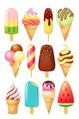 Ice cream. Vector illustration isolated on white background