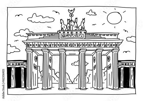 Ausmalbild Brandenburger Tor In Berlin Stockfotos Und Lizenzfreie