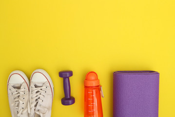 Wall Mural - fitness concept of weight loss,sports,  diet