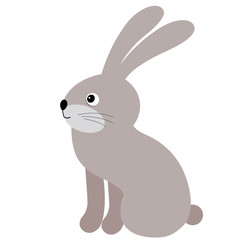 Vector Cute Cartoon Rabbit. Vector Hare. Bunny Vector Illustration.